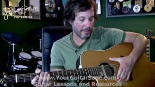 1st Lefty Beginner Guitar Lesson, Left & Right Hand Technique