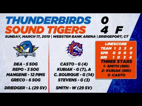 Thunderbirds vs. Sound Tigers | Mar. 17, 2019