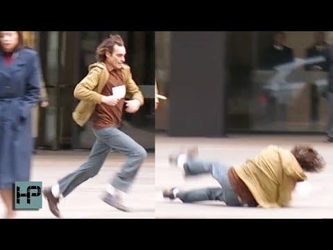 Joaquin Phoenix Falls Hard While Filming 'Joker' in NYC