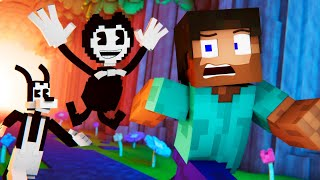 """BATIM Remix"" | Bendy and the Ink Machine Animated Minecraft Music Video"
