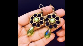 Beaded Flower Earrings.DIY Earrings. How to make earrings