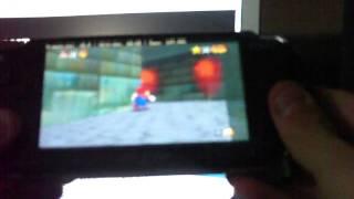Super Mario 64 played on  PSP [Daedalus x64]