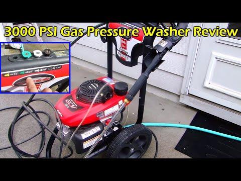 Pressure Washing Back Patio - Simpson 3000 PSI Gas Pressure Washer with Honda Engine