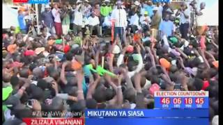 Raila Odinga's full speech in Kitale as he leads the NASA co-principals in campaigns