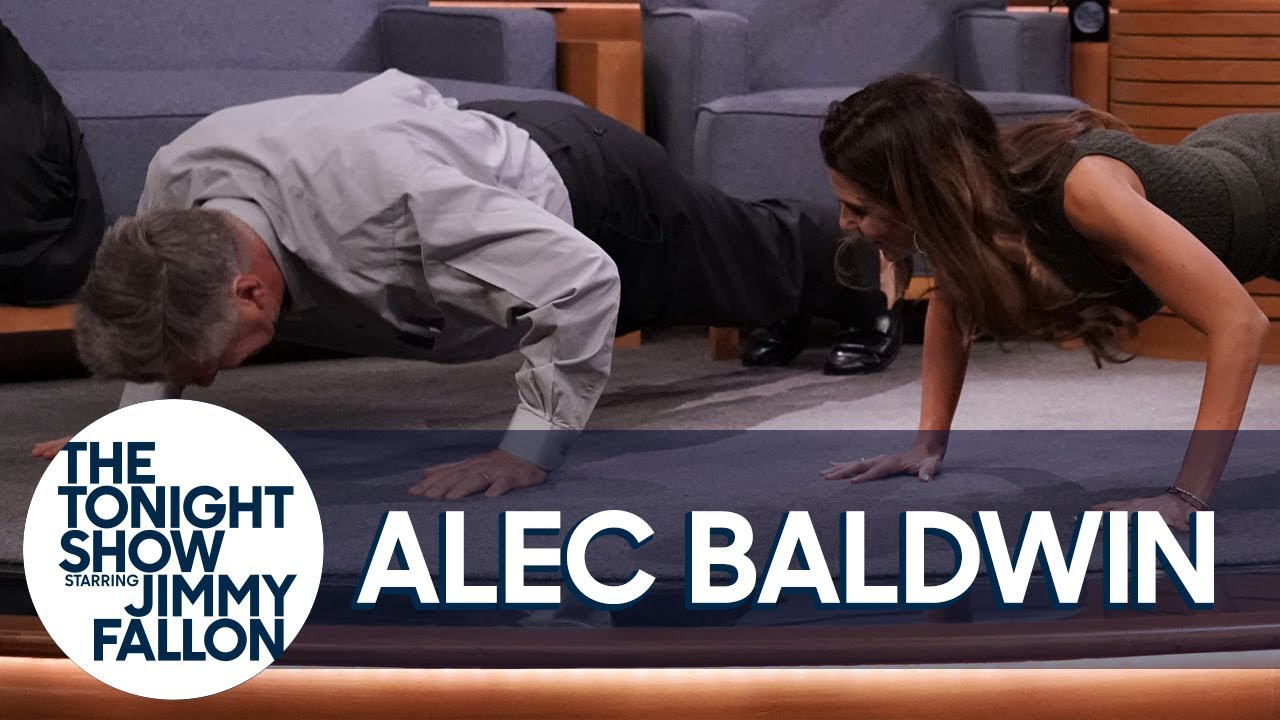 Alec Baldwin Challenges His Wife to a Push-Up Contest thumbnail