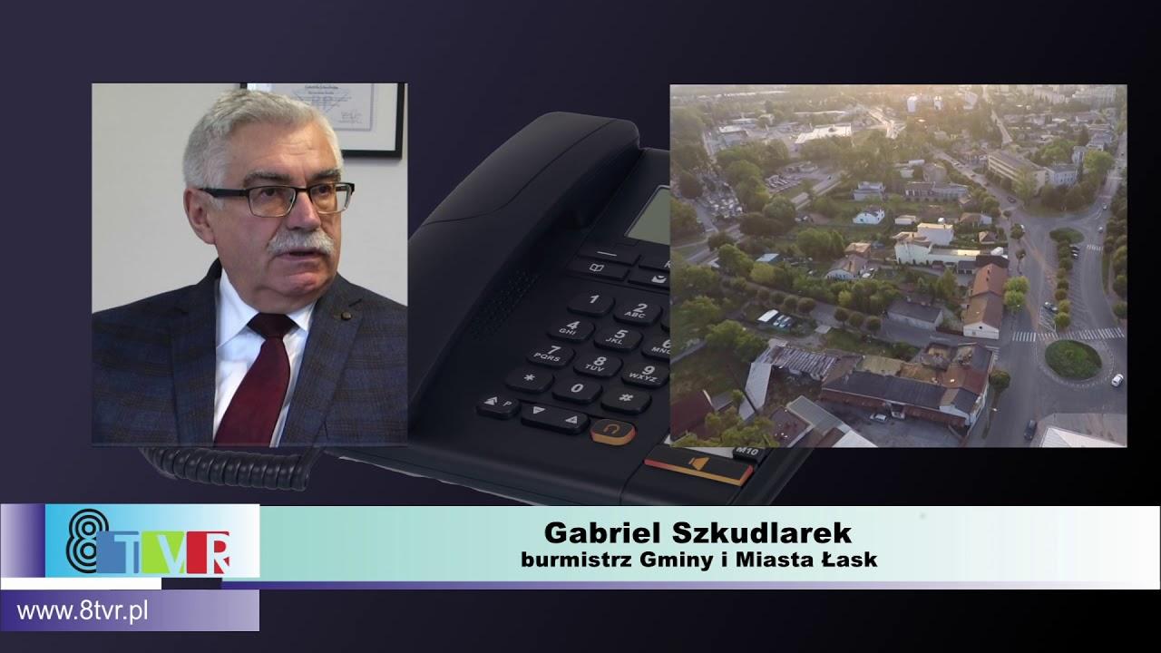 Rozmowa z Burmistrzem Łasku Gabrielem Szkudlarkiem ws. zagrożenia koronawirusem