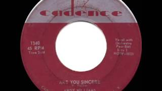 1958 HITS ARCHIVE  Are You Sincere   Andy Williams hit single version