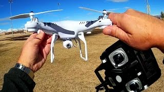HR SH5C Camera Drone Flight Test Review