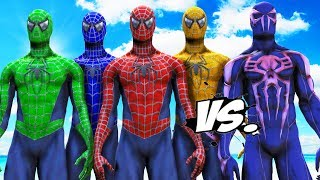 TEAM SPIDER MAN VS SPIDERMAN 2099