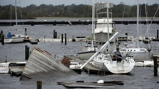 Death toll from Florence rises to 11 as the storm continues to batter the US East Coast