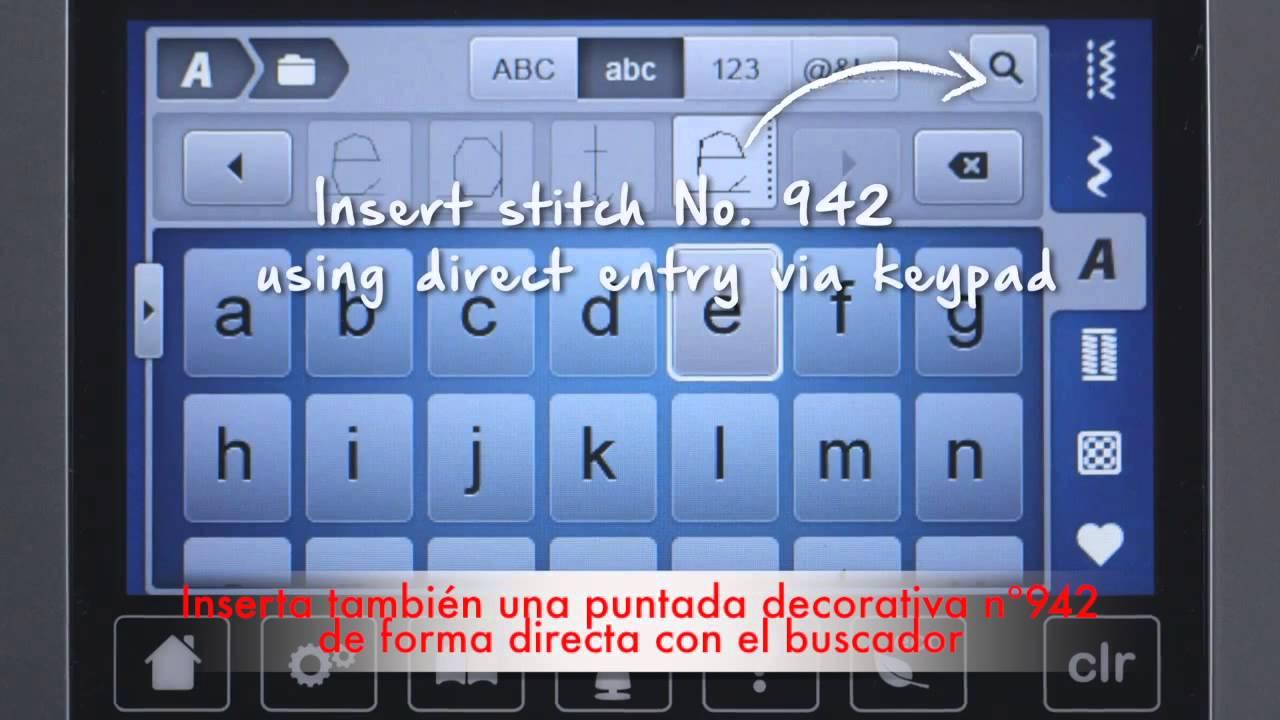 3/9 BERNINA 720: Combinar letras y puntadas.