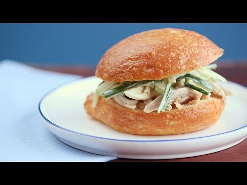 Pulled Chicken with Apple-Cucumber Slaw – Everyday Food with Sarah Carey