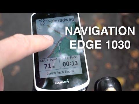 Navigation mit dem Garmin EDGE 1030 und Strava Live Segments (deutsch)