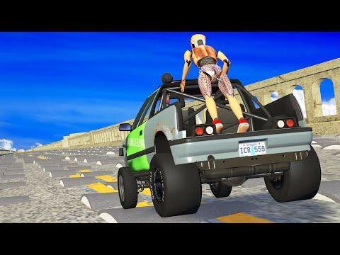 INSANE DOWNHILL CRASHES - Beamng drive