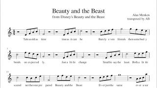 """Beauty and the Beast""  - Sheet Music PDF| Alto Sax Cover | Lyrics"