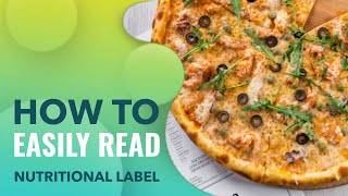 How to easily read nutrition labels:  Nutritional Facts