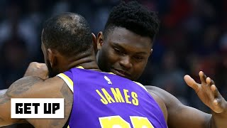 Reacting to LeBron hugging Zion and his comments after the Lakers' win vs. the Pelicans   Get Up