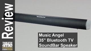 MUSIC ANGEL 35-Inch TV Sound bar & Satellite Speakers Wireless Subwoofer