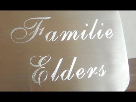 DIY Klingelschild gravieren / Diamantgravur