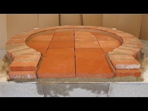 Construction four à pain / pizza par un professionnel de A à Z