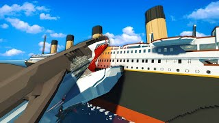 GIGALODON SINKS THE TITANIC?! - Stormworks: Build and Rescue Gameplay (Sinking Ship Survival)