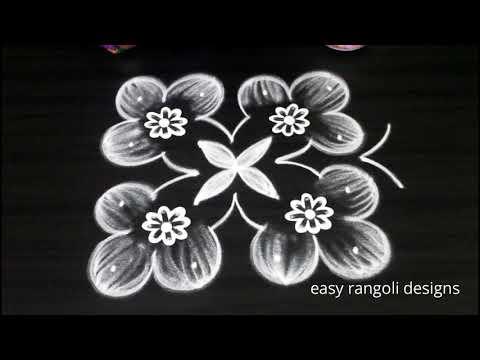 4 Dots Beautiful Kolam Easy Rangoli Designs For Beginners New