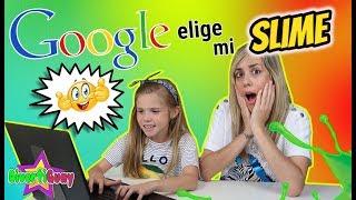GOOGLE SLIME CHALLENGE!! GOOGLE ELIGE MI SLIME CHALLENGE!! Google picks my Slime!