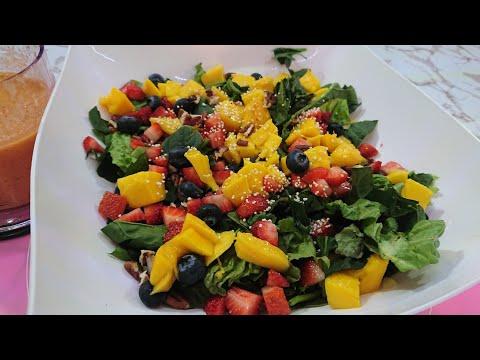 Vinagreta de Fresa y Mango / Ensalada de vegetales #cocinandoconsarita