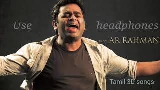Minnal oru kodi 3D Song / AR Rahman super hit Tamil 3D Songs / 3D 8D Surround / VIP / prabudheva
