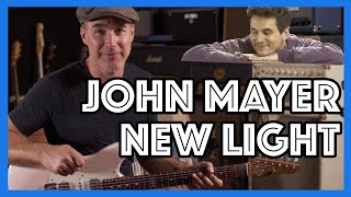 John Mayer   New Light Guitar Lesson   Easy Beginner Chords, Solo, All The Actual Parts & Loops!