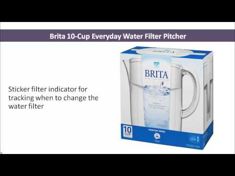Brita 10-Cup Everyday Water Filter Pitcher - Water Filter Pitcher - Best Water Filter Pitcher