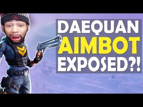 DAEQUAN AIMBOT EXPOSED?! | CRAZY AIM | HIGH KILL FUNNY GAME - (Fortnite Battle Royale)