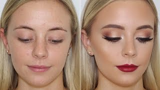Gold Eyes & Bold Lip Client Makeup Tutorial ♡ Jasmine Hand