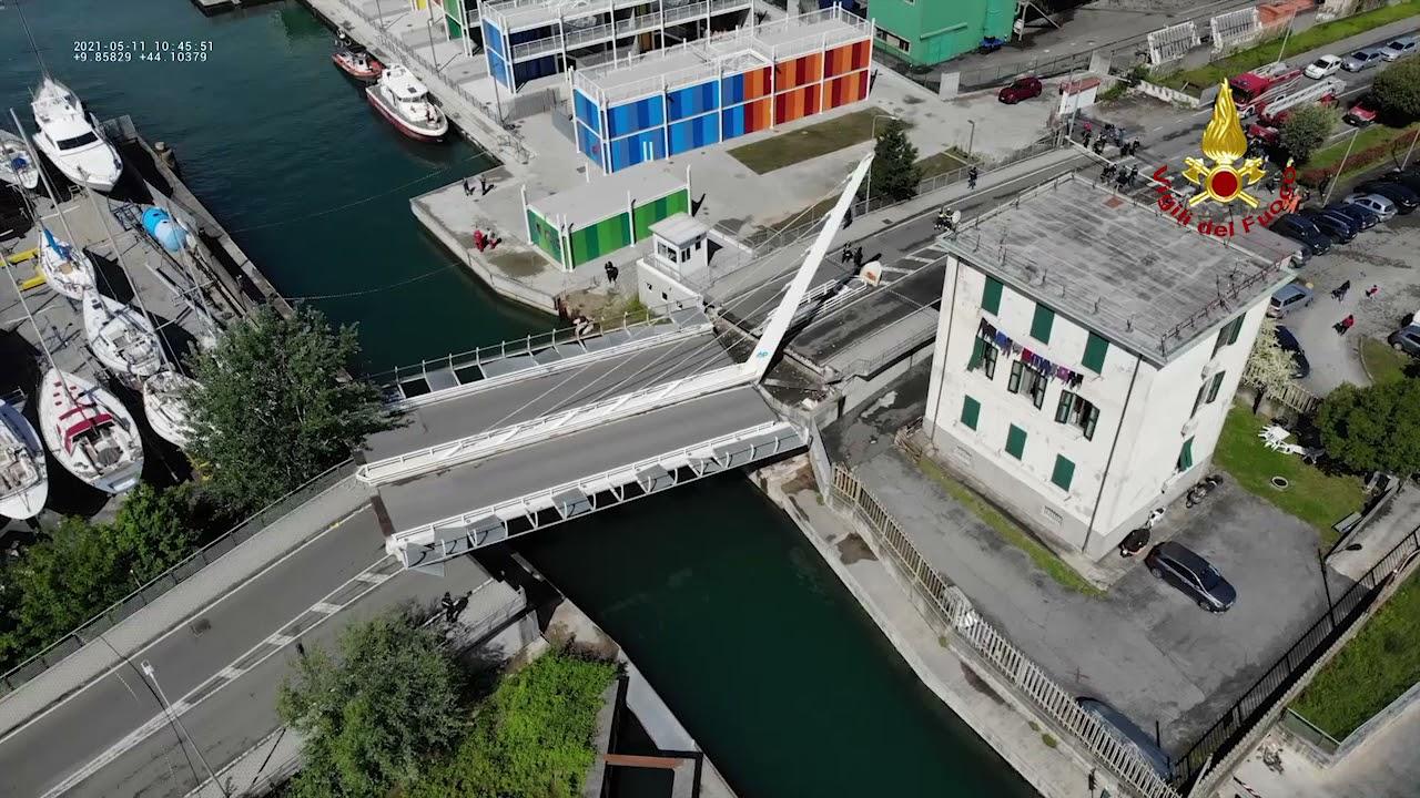 Il ponte di Pagliari, le immagini dal drone dei Vigili del fuoco