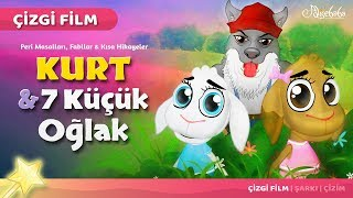 Kurt ve 7 Küçük Oğlak çizgi film masal 20 - Adisebaba Çizgi Film Masallar