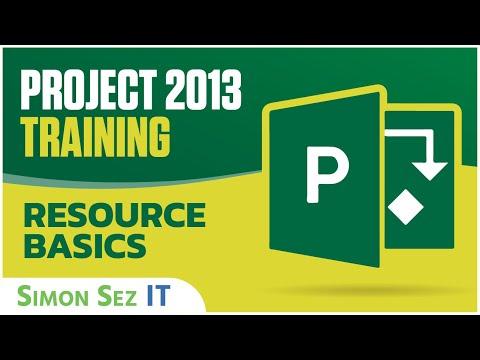 Microsoft Project 2013 Tutorial - Resource Basics - YouTube