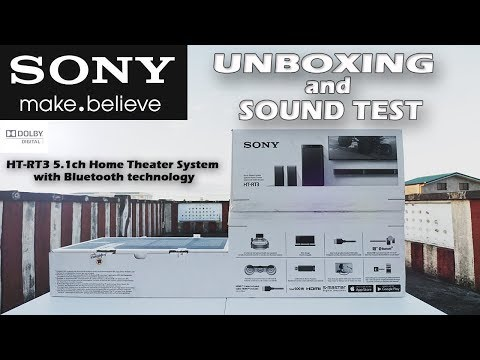 Sony HT-RT3 5.1ch Home Theater System with Bluetooth technology Unboxing and Sound Test