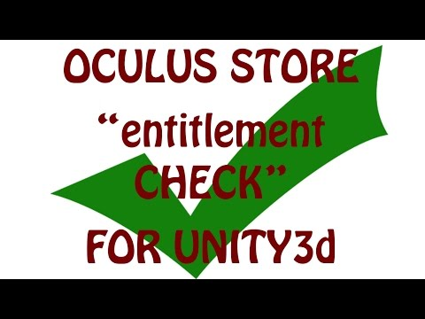 Step by Step Entitlement in Unity — Oculus