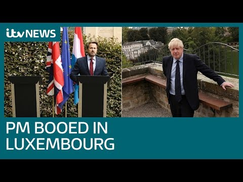 Boris Johnson dodges press conference amid noisy protests | ITV News