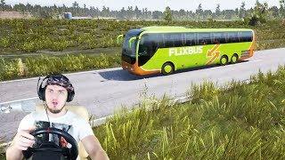 РАБОТАЮ ВОДИТЕЛЕМ АВТОБУСА - Fernbus Simulator + РУЛЬ