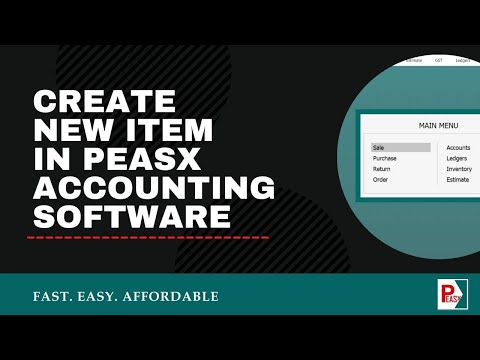 Create New Item in PEASx Accounting Software (Hindi) | Easy To Use Billing & Accounting Software