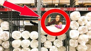 ЭПИК ФОРТ В IKEA ... СПАЛИЛА ОХРАНА | КРУТО КАК 24 ЧАСА И НОЧЬ В IKEA