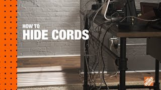How To Hide  TV Wires On A Wall & Desk Cable Management | The Home Depot