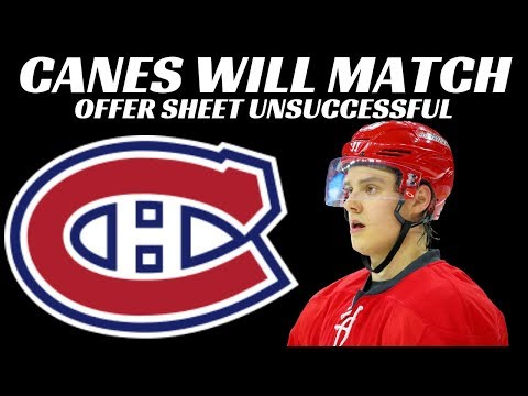 Carolina to Match Sebastian Aho Offer Sheet from Habs