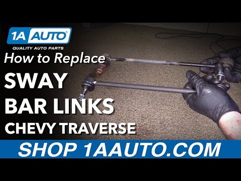 How To Replace Install  Front Sway Bars 12 Chevy Traverse Mp3
