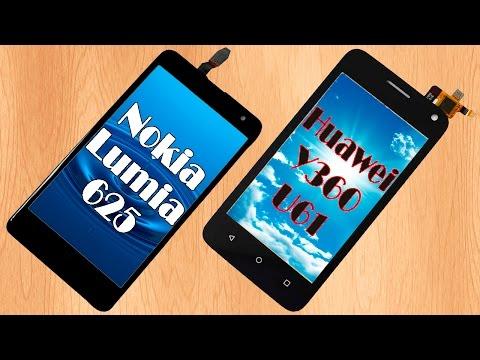 Тачскрины или сенсорные экраны для смартфонов Nokia Lumia 625 и Huawei Y360-U61 с Aliexpress