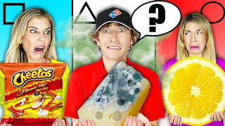 Geometric Shapes Food Challenge! Weird and Funky Food Combinations People Love!