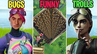 TRAPPED DEATH TOWER! BUGS vs FUNNY vs TROLLS! Fortnite Funny Moments (Battle Royale)
