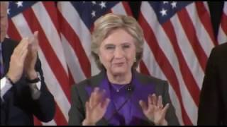 Clinton apologizes to Americans for losing in her concession speech