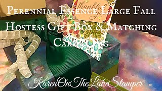 Perennial Essence Large Fall Hostess Gift Box With Matching Card & Tag